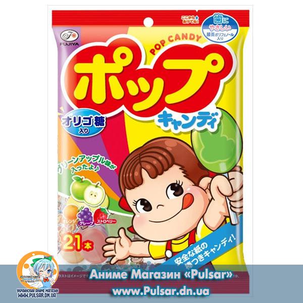 Жувальні цукерки Fujiya Milky pop candy 85g ( Солодкі льодяники)