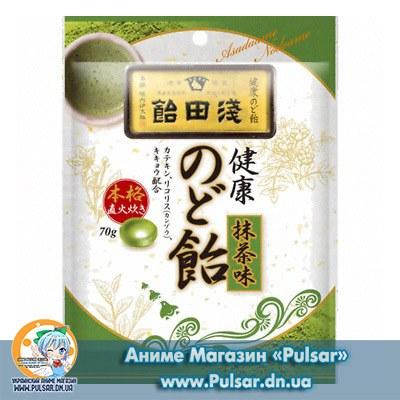 Asada candy health throat Candy Green tea flavor 70 g Леденцы со вкусом зеленого чая