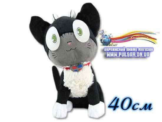 Мягкая игрушка кот Куро из аниме синий Экзорцист