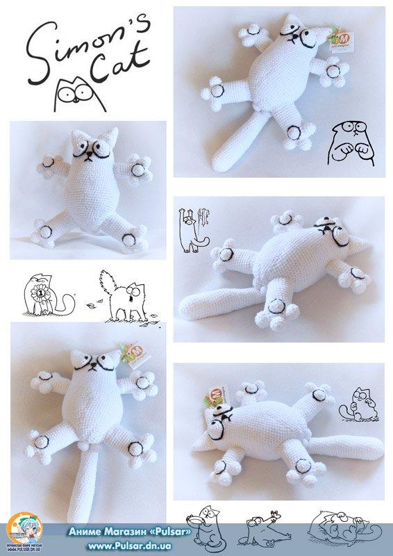 "М`яка іграшка ""Amigurumi"" ""Simon's Cat "" ""Кіт Саймона"""