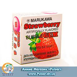Жувальна гумка Marukawa BUBBLE GUM STRAWBERRY FLAVOR зі смаком полуниці 5,4 гр., (4 кульки по 1,35 гр.)