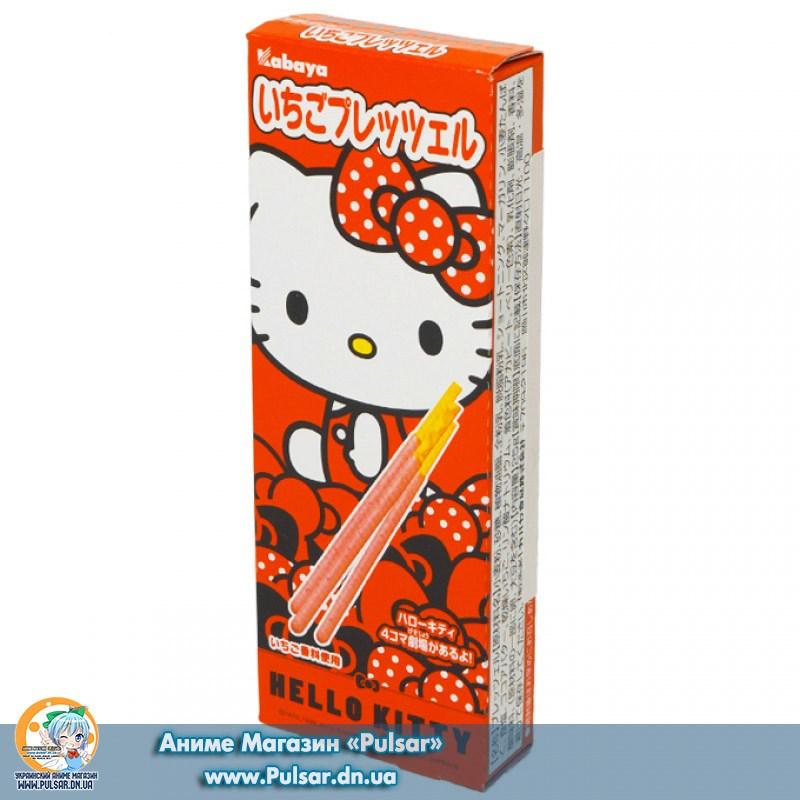палички Kabaya Hello Kitty strawberry pretzel (зі смаком полуниці)