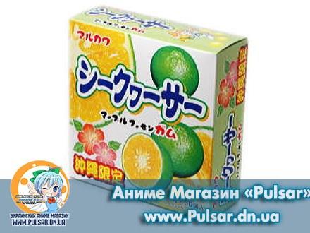 Жевательная резинка Marukawa Marble bubble gum со вкусом лайма 5,4 гр., (4 шарика по 1,35 гр.)