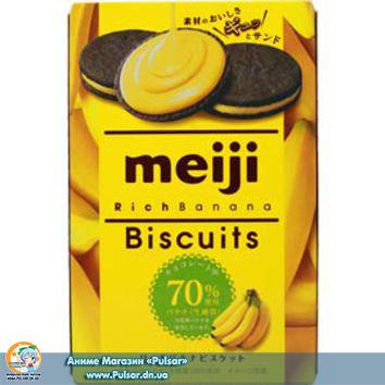 Бісквіти Meiji Rich Banana Biscuits