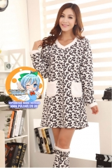 Пижама из флиса модель Cute Leopard