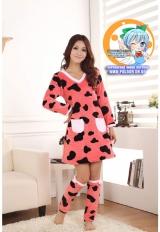 Пижама из флиса модель Cute Pink Cow