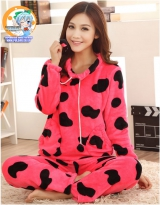 Пижама из флиса модель Cute Pink Cow Sport