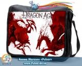 """Сумка зі змінним клапаном """"Dragon Age """" - Red Style"""