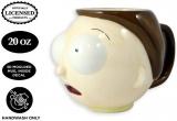 Фирменная скульптурная чашка Rick and Morty – Morty Smith Coffee Mug [WHITE BLACK MOLDED 16oz] Ceramic Anime Mug, Tea Mug, Science Fiction Anime Mug, Sanchez Face Molded Mug (OFFICIALLY LICENSED