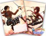 Зошит у клітинку ( Eren and Mikasa / (Shingeki no Kyojin) 36 аркушів