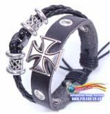 Браслет в стиле J-ROCK модель Stone Black Cross