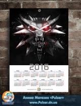 Календар A3 на 2016 рік Witcher