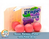 Жевательная резинка Marukawa BUBBLE GUM GRAPE FLAVOR со вкусом винограда 5,4 гр., (6 шариковпо 1,35 гр.)