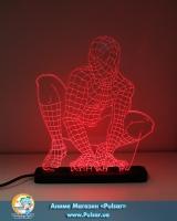 Дiодний Акриловий світильник «Spider Man» tape 1