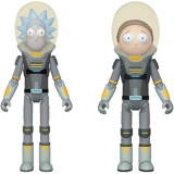 Оригінальна sci-fi фігурка Funko Action Figure Bundle of 2: Rick & Morty - Space Suit Rick and Space Suit Morty