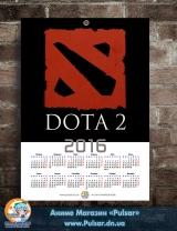 Календар A3 на 2016 рік Dota 2