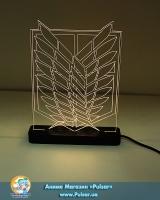 Диодный Акриловый светильник Shingeki no Kyojin - tape 1