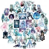 """Набір пластикових стікерів """"Hatsune Miku"""""""