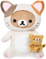 Оригінальна м'яка іграшка «Rilakkuma San-X Rilakkuma Cat Playing With Kitty Plush»