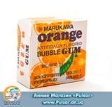 Жевательная резинка Marukawa BUBBLE GUM ORANGE FLAVOR со вкусом апельсина 5,4 гр., (6 шариков по 1,35 гр.)