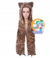 Зверошапка (SpiritHood) модель Long leopard