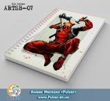Скетчбук (sketchbook) на пружині 80 аркушів Deadpool