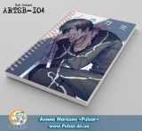 Скетчбук ( sketchbook) на пружине 80 листов Noragami tape 3