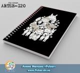 Скетчбук ( sketchbook) на пружине 80 листов Ghibli artwork tape 3
