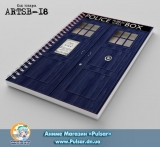 Скетчбук ( sketchbook) на пружине 36 листов  Doctor Who