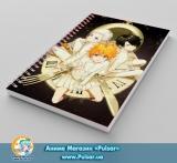 Скетчбук ( sketchbook) на пружине 80 листов «Yakusoku no Neverland» - tape 3