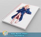 Скетчбук ( sketchbook) на пружине 80 листов «Sword Art Online» - tape 4