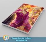 Скетчбук ( sketchbook) на пружині 80 аркушів JoJo`s Bizarre Adventure tape 16