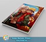 Скетчбук ( sketchbook) на пружине 80 листов «Naruto» tape 6