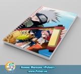 Скетчбук (sketchbook) на пружине 80 листов «Naruto» tape 9