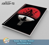 Скетчбук ( sketchbook) на пружине 80 листов  Naruto - Uchiha Clan