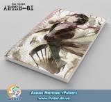 Скетчбук ( sketchbook) на пружине 80 листов Bungou Stray Dogs - tape 2