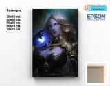 Картина (натуральне полотно) World of Warcraft tape 08