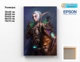 Картина ( натуральный холст ) World of Warcraft tape 09