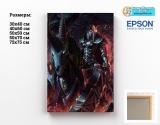 Картина ( натуральный холст ) World of Warcraft tape 10