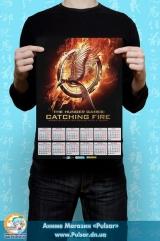 """Календар A3 на 2015 рік за мотивами кінофільму """"Hunger Games"""" Голодні ігри Tape 2"""