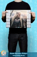"""Календар A3 на 2015 рік за мотивами кінофільму """"The Hobbit"""" Хоббіт Tape 2"""