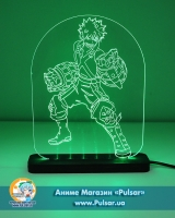 Дiодний Акриловий світильник Boku no Hero Academia - Bakuga