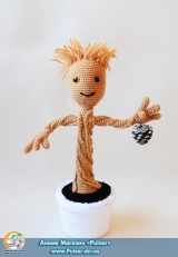"М`яка іграшка ""Amigurumi"" ""Guardians of the Galaxy-Groot"""