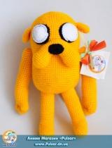 "М`яка іграшка ""Amigurumi"" ""Adventure time - Jacke"""
