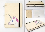 Скетчбук ( sketchbook)  «Unicorn tape 3»