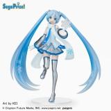 Оригинальная аниме фигурка «Hatsune Miku - Super Premium Figure Snow Miku Skytown Ver. (SEGA)»