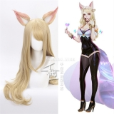 Парик Game Character KDA K/DA Ahri Cosplay Wigs 70cm with ears KDA