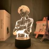 Диодный Акриловый светильник Attack on Titan 7 цветов