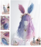 Перука Kawaii Bunny Rabbit 65cm Purple Pink Gradient Harajuku Lolita