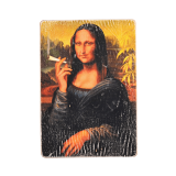 Деревянный постер «Mona Lisa»